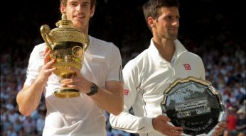 Djokovic and Murray Wimbledon 2014