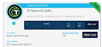 David Goffin v Dominic Thiem